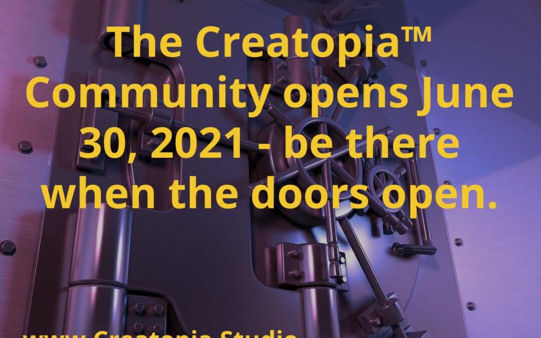 Let's Be Friends! Creatopia Community Opens June 30, 2021